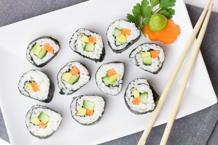 food-vegetables-sushi